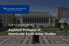 Job Opening: Assistant Professor in Islamicate South Asian Studies