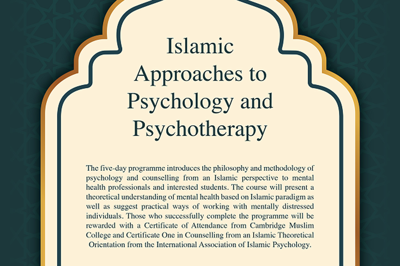 20191110-Islamic-Approaches-to-Psychology-and-Psychotherapy